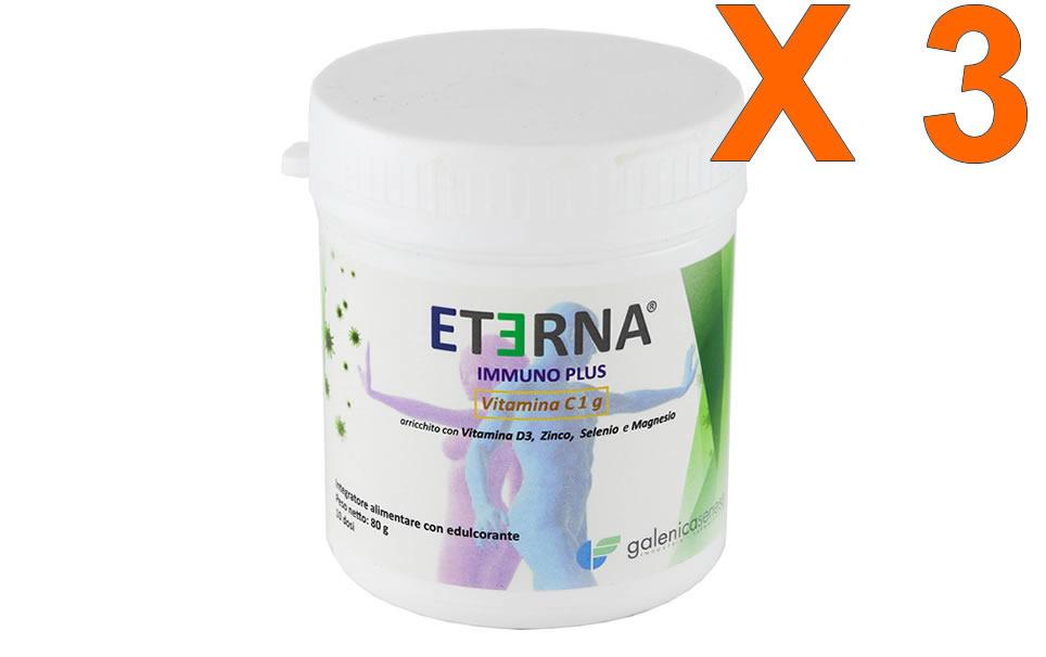 Eterna Immuno Plus 80gr in polvere - 3 Confezioni sconto 35%