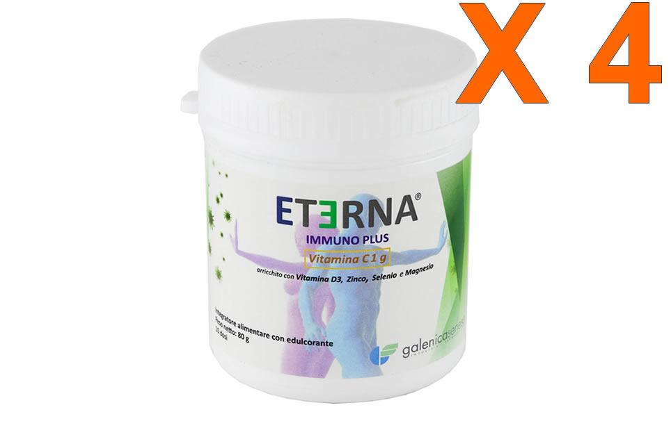 Eterna Immuno Plus 80gr in polvere - 4 Confezioni sconto 40%