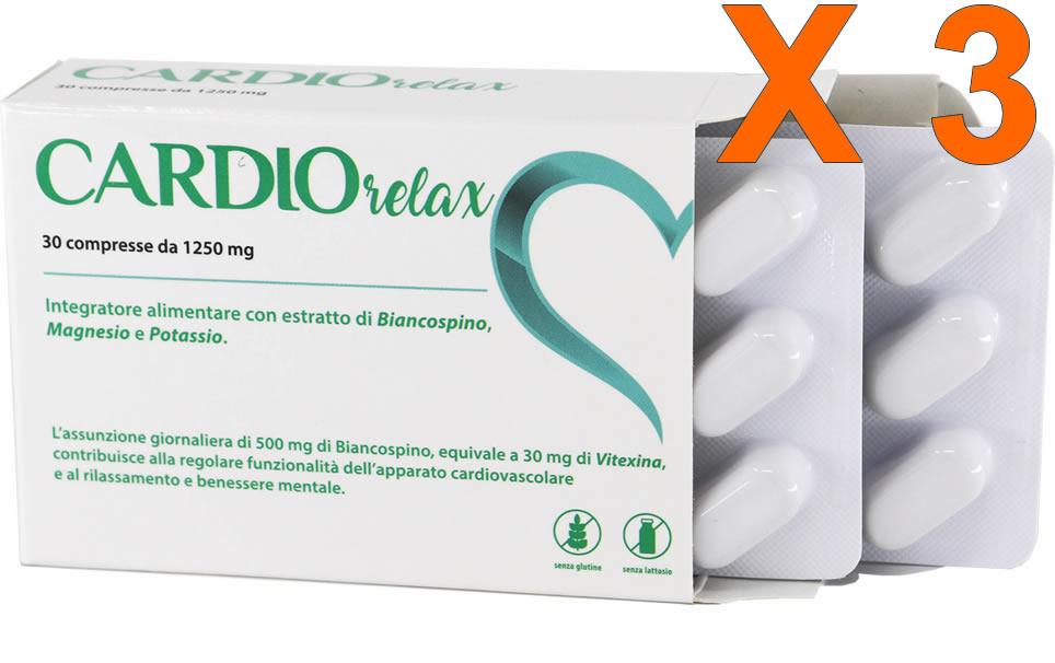 Cardio Relax 30 compresse da 1250 mg - 3 confezioni - sconto 35%