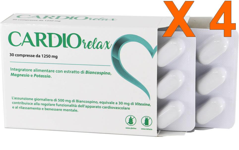 Cardio Relax 30 compresse da 1250 mg - 4 confezioni - sconto 40%